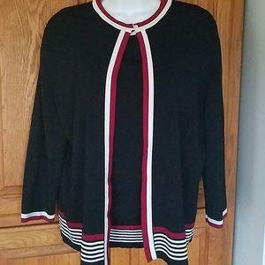 Dressbarn 2 piece sweater set. L/xl